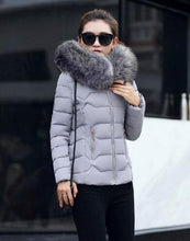 SMFOLW 2017 New winter jacket women Fake fur collar down wadded jacket female cotton-padded jackets thickening women winter coat