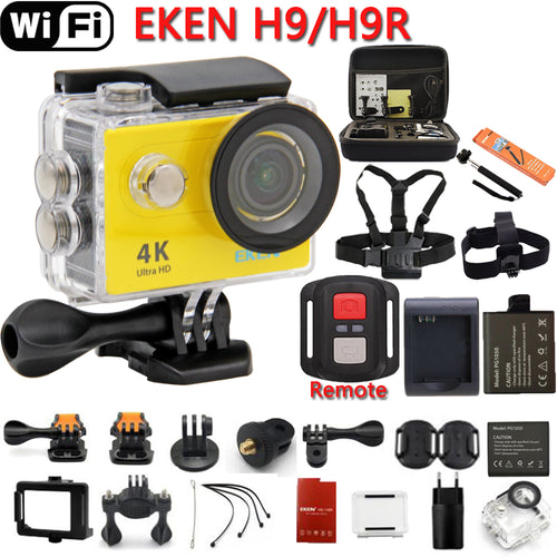 Action Camera Ultra HD 4K 25fps WiFi 2.0