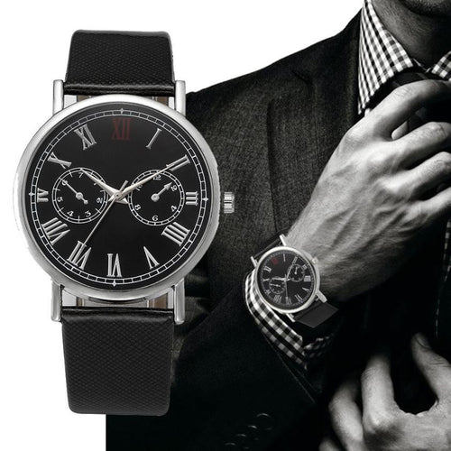 Luxury Top Brand Men Watch Leather Band