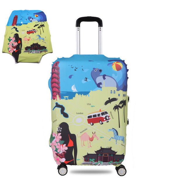 OKOKC Thicker Travel Luggage Suitcase Protective Cover for Trunk Case Apply to 19''-32'' Suitcase Cover Elastic Perfectly