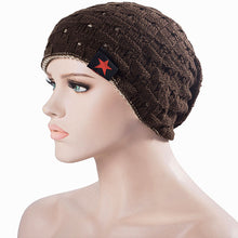 [JEATNOILY] 2017 Fall Men Winter Hat Knitted Five Star  Cap Hollow Double Wear Women Hats Unisex Beanie Keep Warm Woolen Hat