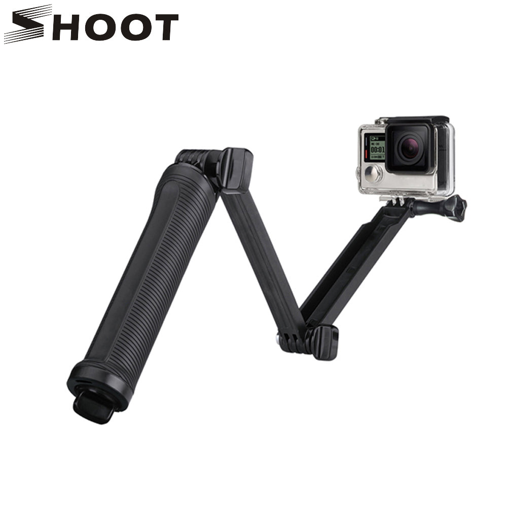 SHOOT 3 Way Grip Waterproof Monopod Selfie Stick For Gopro Hero 5 4 3 Session SJ4000 Xiaomi Yi 4K Camera Tripod Go pro Accessory