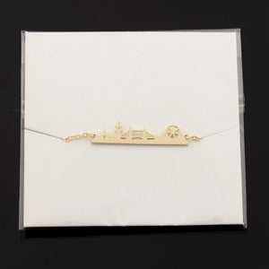 Minimal Map Skyline Church London Bridge Charm Bracelet