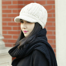 Peaked Cap Knitted Beanie