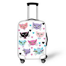 ELVISWORDS Luggage Cover Minion Silhouette Cat Thick Elastic Travel Luggage Protective Cover 3D Waterproof Rain Cover for Troll