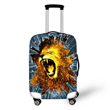 "Wholesale Travel Luggage Protector Covers Ice Giraffe Printed Cover for 18""-28"" Trolley Suitcase Fire Lion Protect FORUDESIGNS"