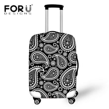 FORUDESIGNS 3D Paisley Printed Vintage Travel Luggage Cover Elastic Waterproof Rain Dust Cover for 18-30 Inch Trolley Case