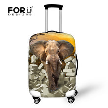 FORUDESIGNS 3D Animal Elephant Elastic Spandex Travel Luggage Protective Cover for ''18-30'' Trunk Case Travel Suitcase Cover