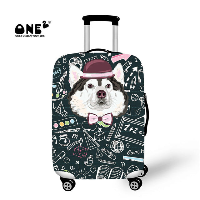 Dust Proof Travel Luggage Cover Printing With Back To School Doggy For Men And Women Adults Apply To 18 - 30 Inch Suitcase