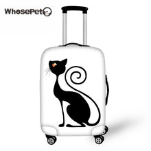 WHOSEPET Kawaii Black Cat Suitcase Cover Printing Travel Luggage Protective Covers Cute for Girls Women Zipper closure New Hot