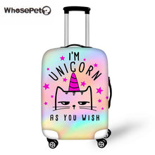 WHOSEPET Rainbow Unicorn Case Cover Suitcase Protective With Zipper Travel Luggage Covers Anti-dust For Viagem Trunk Wholesale