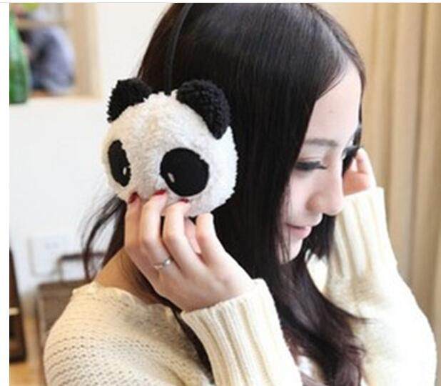 Winter Cute Panda Earmuff Ear Muff Warmer-White