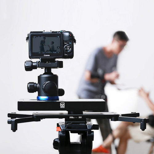 Ulanzi Video Stabilizer System Camera Video Slider 20cm Mini Travel Track Dolly Rail for Vlog Youtube Live streaming for DSLR