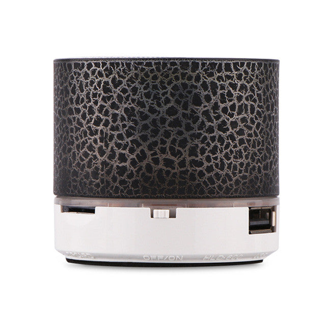 Super Bass Mini Portable Bluetooth Wireless Speaker with LED and Build-in Mic Support AUX TF for Smartphone PC Tablet