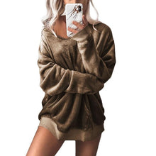 Women Pure Color Fashion Casual Sweatshirt