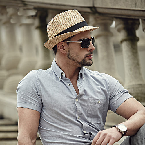 Men's Panama Travel Straw Hat