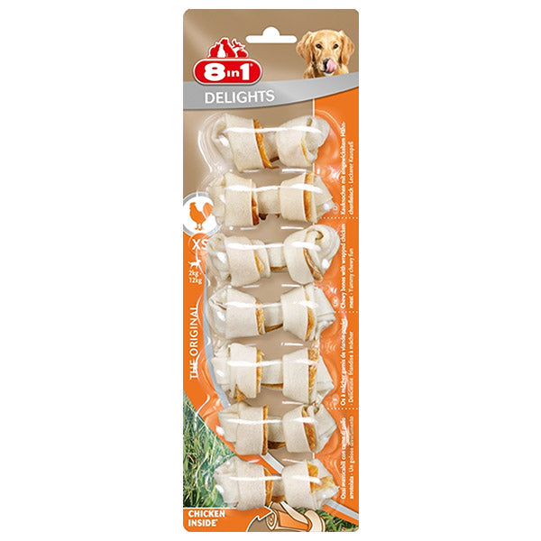 8 in 1 Delight Hide Bones 7 pack