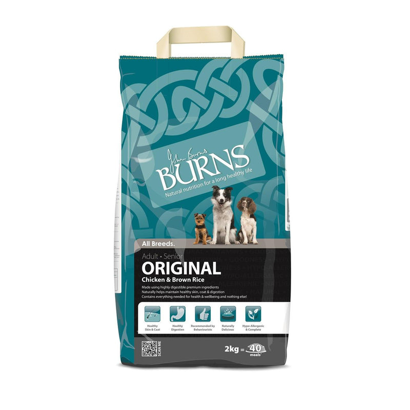Burns Dog Adult Senior Original chicken and brown rice