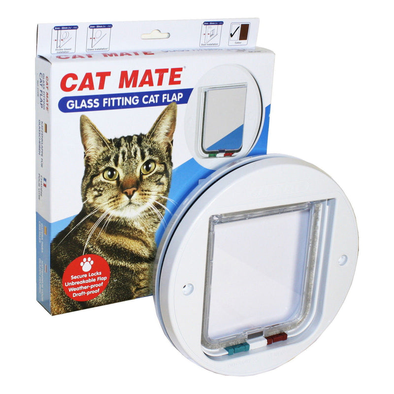 Cat Mate - Glass Fitting Circular Cat Flap