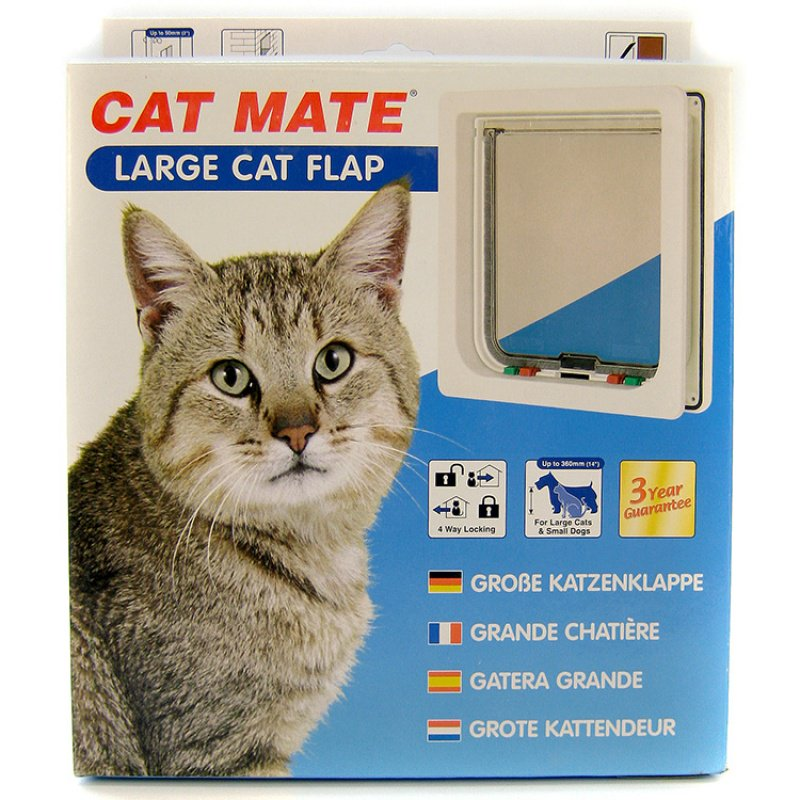 Pet Mate Large Cat Flap for Large Cats or Small Dogs