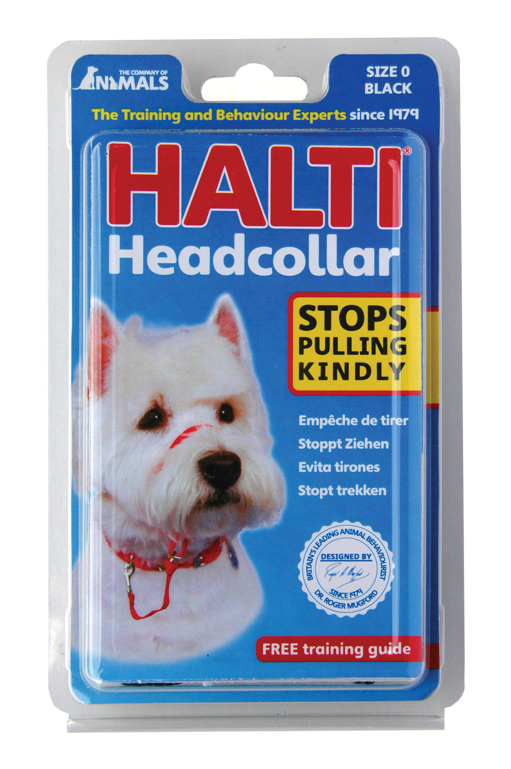 Halti Dog Head Collar, Black, Size 0