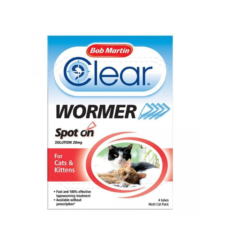 Bob Martin Clear Spot on Dewormer for Cats & Kittens