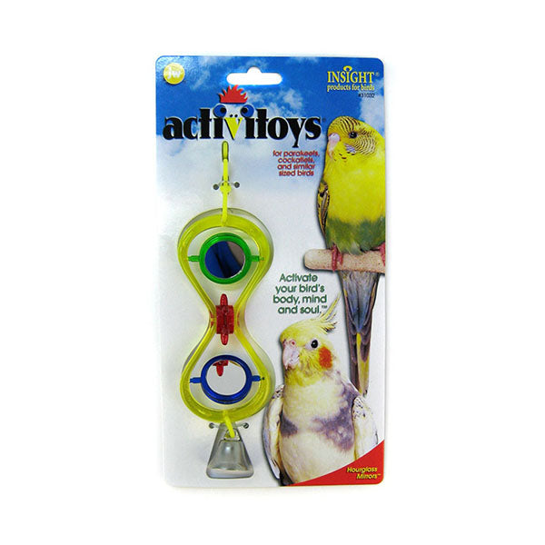 Hourglass Mirrors Bird Toy