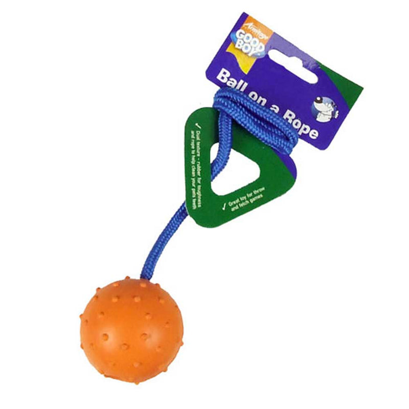 Rubber Ball on Rope (6.5cm) Dogs