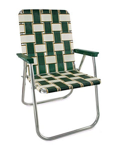 Webbing Chair (Deluxe, Charleston with Green Arms) : Garden & Outdoor