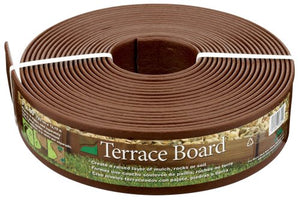 Master Mark Plastics 93340 Terrace Board Landscape Edging Coil 3 Inch by 40 Foot, Brown - Forest Grass