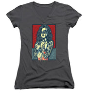 Rubino Cat Woman - Women's V-Neck (Athletic Fit)