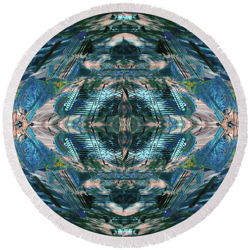 88th And Riverside - Round Beach Towel