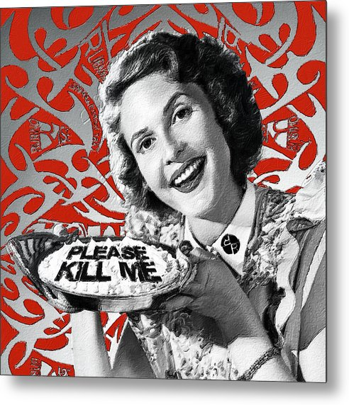 A Housewife Bakes - Metal Print