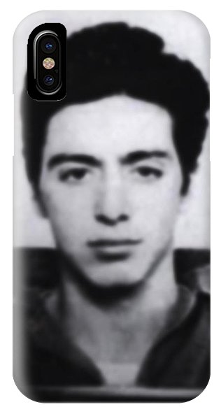 Al Pacino Mug Shot 1961 Black And Blueish  - Phone Case