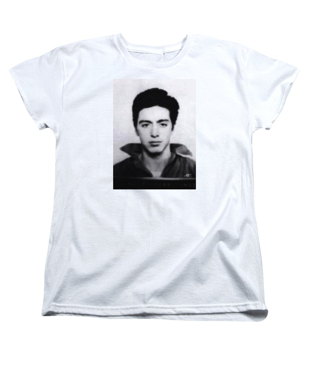 Al Pacino Mug Shot 1961 Black And Blueish  - Women's T-Shirt (Standard Fit)