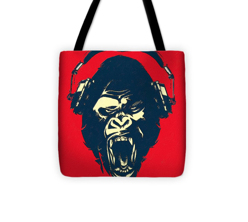 Ape Loves Music With Headphones - Tote Bag