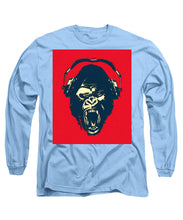 Ape Loves Music With Headphones - Long Sleeve T-Shirt