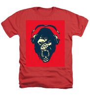 Ape Loves Music With Headphones - Heathers T-Shirt