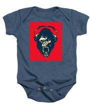 Ape Loves Music With Headphones - Baby Onesie