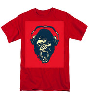 Ape Loves Music With Headphones - Men's T-Shirt  (Regular Fit)