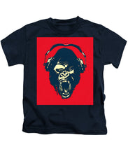 Ape Loves Music With Headphones - Kids T-Shirt