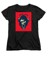 Ape Loves Music With Headphones - Women's T-Shirt (Standard Fit)