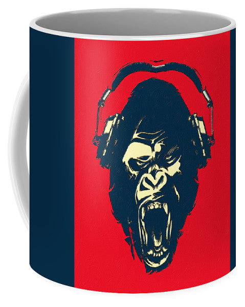Ape Loves Music With Headphones - Mug