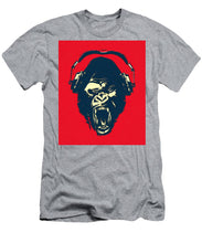 Ape Loves Music With Headphones - Men's T-Shirt (Athletic Fit)