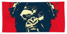 Ape Loves Music With Headphones - Beach Towel