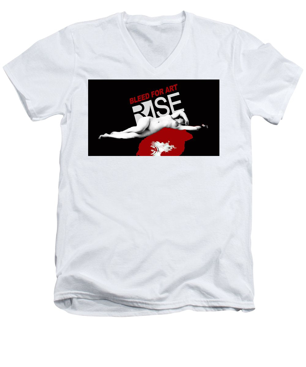 Rise Bleed For Art - Men's V-Neck T-Shirt