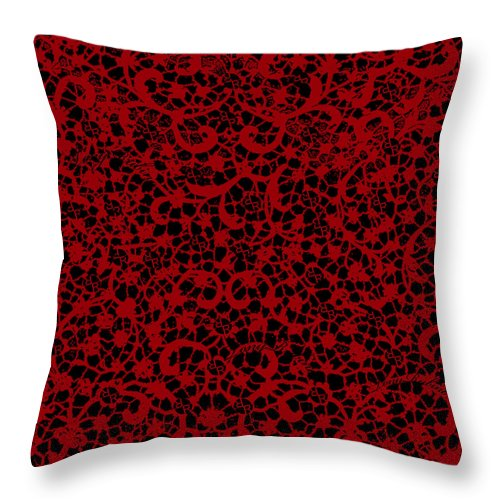 Blood Lace - Throw Pillow