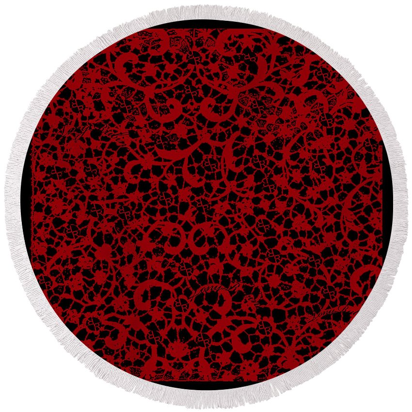 Blood Lace - Round Beach Towel