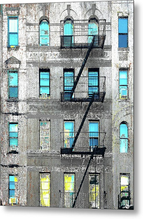 Blue Neighbors - Metal Print