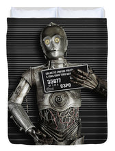 C-3po Mug Shot - Duvet Cover
